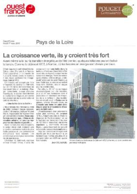 OUESTFRANCE_CROISSANCE VERTE EN PAYS DE LA LOIRE
