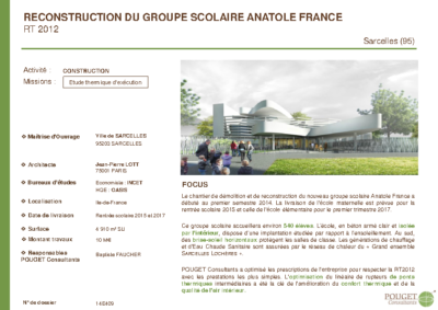 14E409_Etude EXE RT2012 Groupe Scolaire Anatole France_Sarcelles