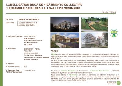 Labellisation BBCA de 6 bâtiments