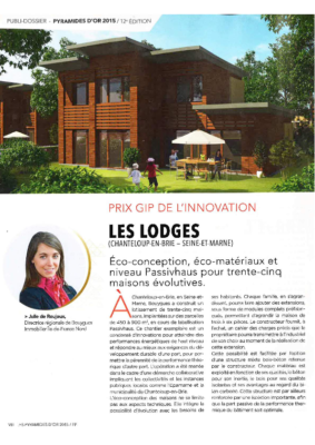 LES LODGES Prix GIP Innovation A CHANTELOUP