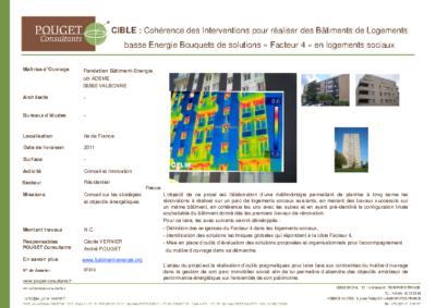 07313_CIBLE Cohérence des Interventions pour réaliser des Bâtiments de Logements basse Energie- Bouquets de solutions Facteur 4 en logements sociaux