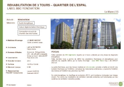 09304_Réhabilitation de 3 tours_quartier de l'ESPAL au Mans (72)