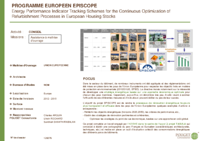 126076_Programme Européen EPISCOPE_Energy Performance Indicator Tracking Schemes for the Continuous Optimization