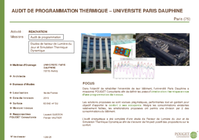 126125_Audit de programmation thermique de l'UNIVERSITE PARIS DAUPHINE