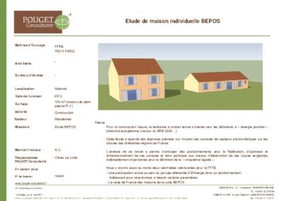 13E495_Etude maisons BEPOS_FFB