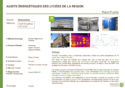 15C220_Audits énergétiques 39 Lycées_Conseil Régional Picardie
